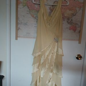 Vintage Yellow Belle Gown